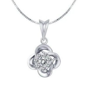 0.90 Carats Round Shape Diamond Ladies Necklace